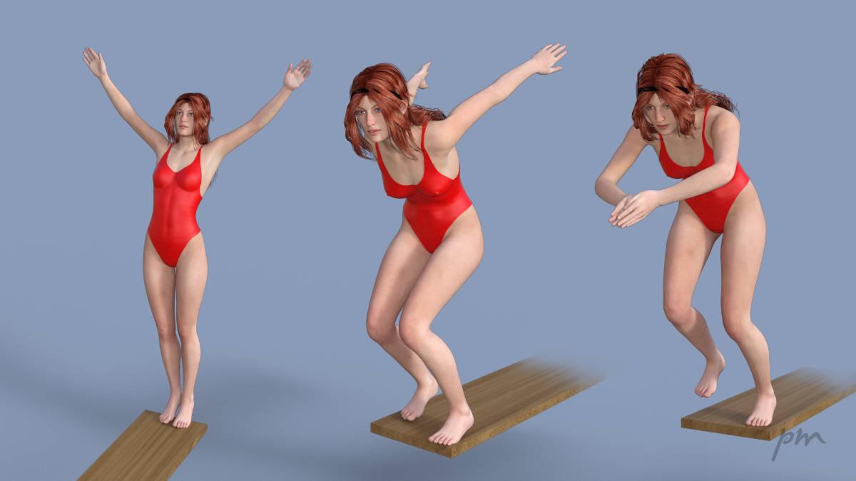 Sport poses for DAZ Studio - Peter Moonen